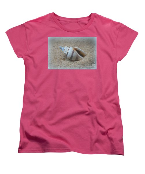 Washed Ashore Seashell Treasure Women's T-Shirt (Standard Cut) by Ella Kaye Dickey
