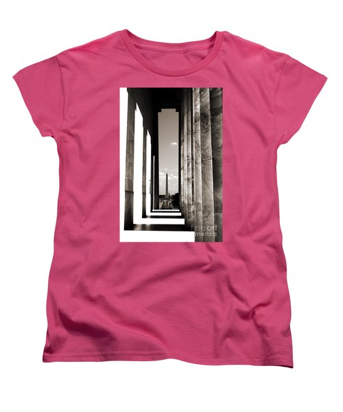 Washington Monument Women's T-Shirt (Standard Cut) by Angela DeFrias