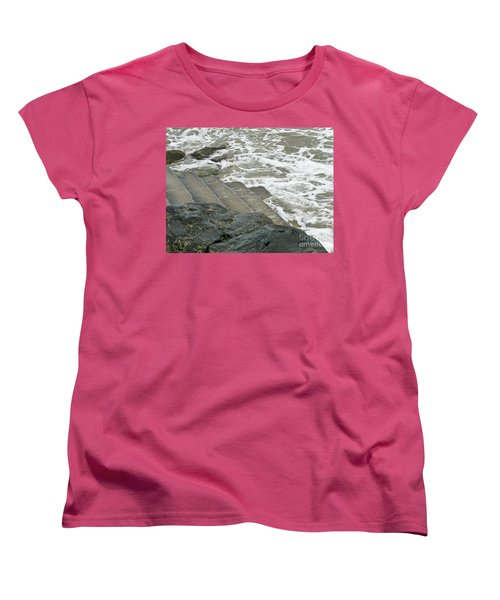 Women's T-Shirt (Standard Cut) featuring the photograph Watch Your Step by Brenda Brown