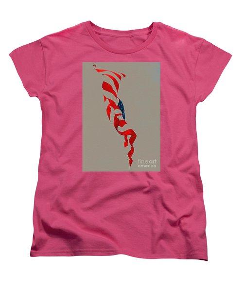 Waving Women's T-Shirt (Standard Cut)