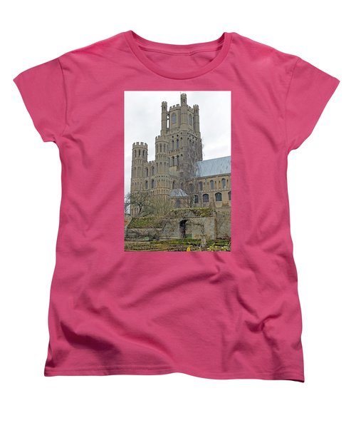 West Tower Of Ely Cathedral  Women's T-Shirt (Standard Cut) by Tony Murtagh