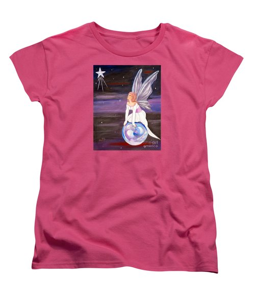 Women's T-Shirt (Standard Cut) featuring the painting When You Dream by Phyllis Kaltenbach