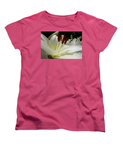 White Asiatic Lily Women's T-Shirt (Standard Cut) by Jacqueline Athmann