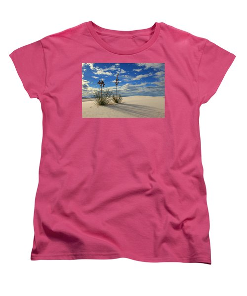 White Sands Afternoon 2 Women's T-Shirt (Standard Cut) by Alan Vance Ley