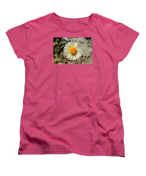 White Wild Flower Women's T-Shirt (Standard Cut)