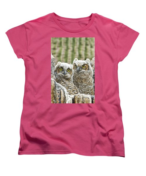 Who's There? Women's T-Shirt (Standard Cut) by Bryan Keil