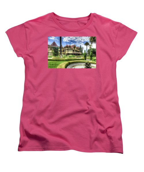 Winchester Mystery House Women's T-Shirt (Standard Cut) by Jim Thompson