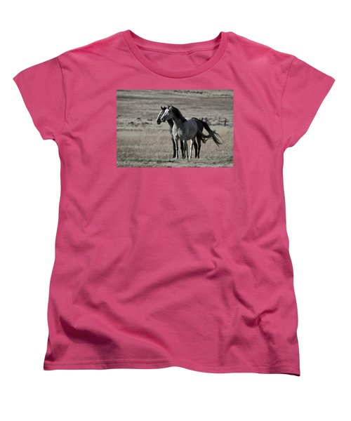 Windblown Women's T-Shirt (Standard Cut) by Wes and Dotty Weber