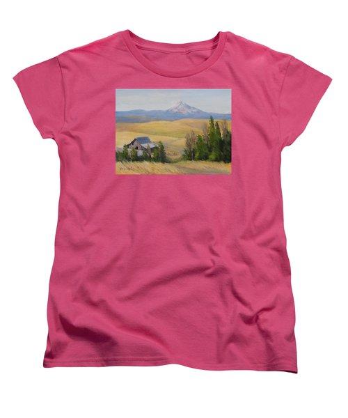 Women's T-Shirt (Standard Cut) featuring the painting Windswept by Karen Ilari