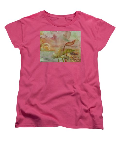 Women's T-Shirt (Standard Cut) featuring the painting Windswept by Robin Maria Pedrero