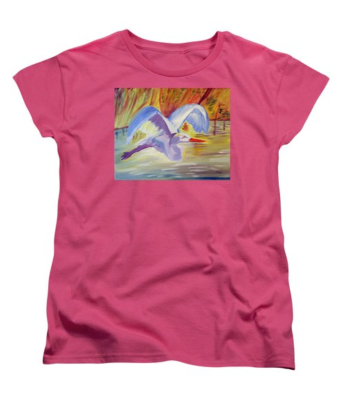 Winged Creation Women's T-Shirt (Standard Cut) by Meryl Goudey