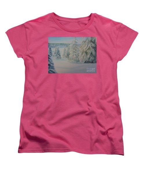 Winter In Gyllbergen Women's T-Shirt (Standard Cut) by Martin Howard