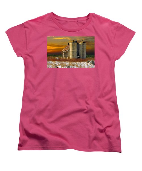 Winter On The Farm Women's T-Shirt (Standard Cut) by Judy  Johnson