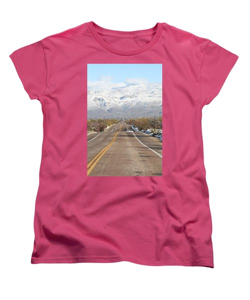 Winter Road Women's T-Shirt (Standard Cut) by David S Reynolds