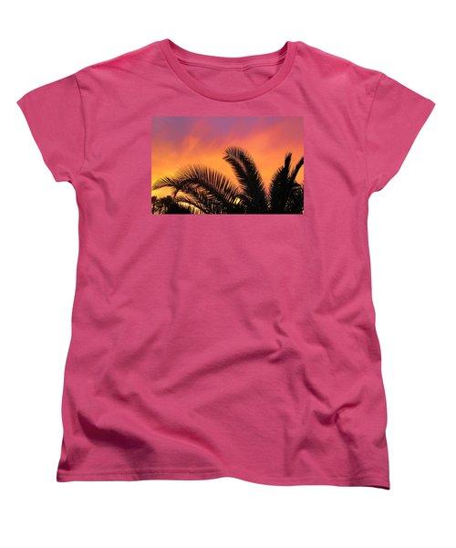 Winter Sunset Women's T-Shirt (Standard Cut) by Tammy Espino