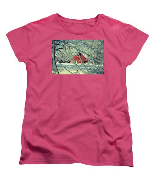 Our Frosty Barn Women's T-Shirt (Standard Cut) by Julie Hamilton