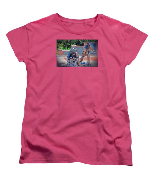 Women's T-Shirt (Standard Cut) featuring the photograph Wisconsin State Firefighters Memorial Park 2 by Susan  McMenamin