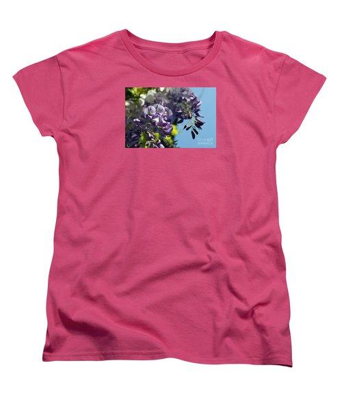 Women's T-Shirt (Standard Cut) featuring the photograph Wisteria IIi by Cassandra Buckley
