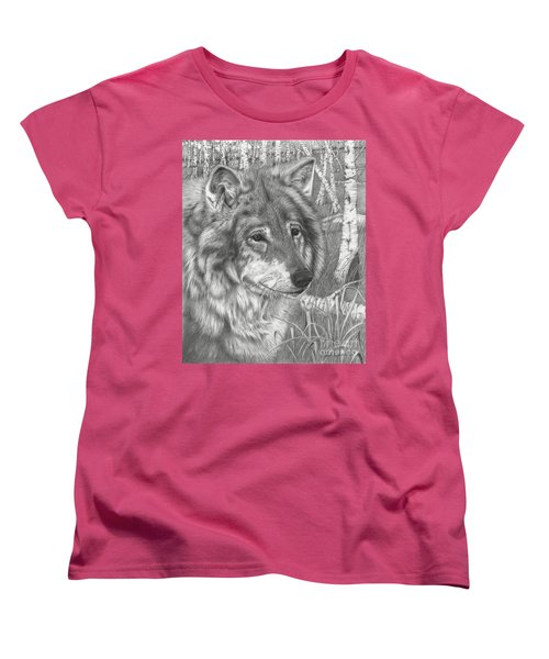 Wolf Gaze Women's T-Shirt (Standard Cut)