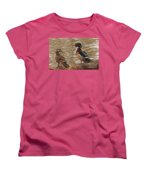 Wood Duck Photo Women's T-Shirt (Standard Cut) by Luana K Perez