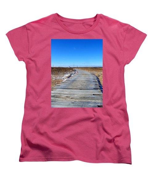 Women's T-Shirt (Standard Cut) featuring the photograph Plum Island by Eunice Miller