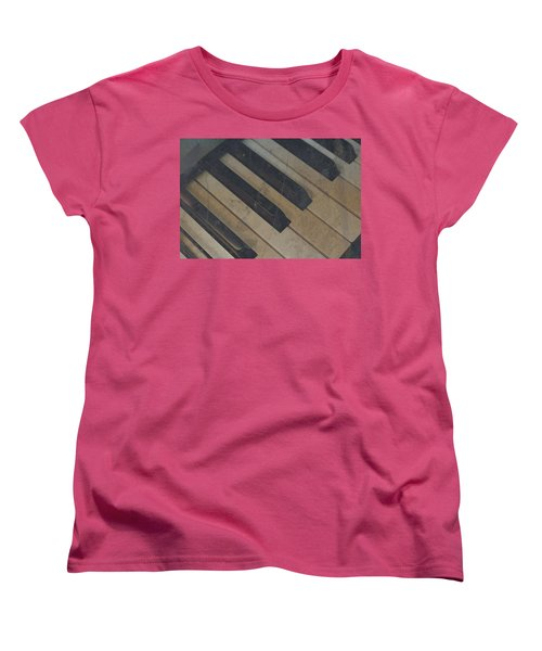 Worn Out Keys Women's T-Shirt (Standard Cut) by Photographic Arts And Design Studio