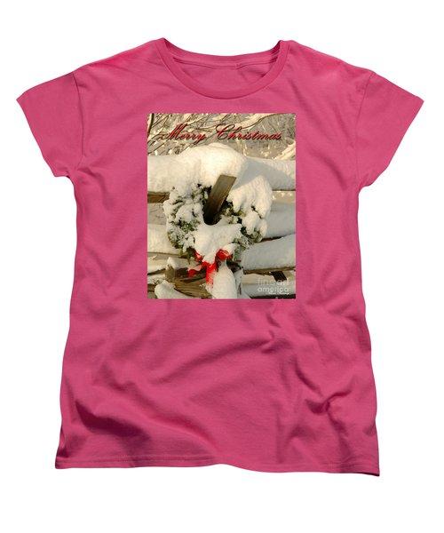 Women's T-Shirt (Standard Cut) featuring the photograph Wreath  by Alana Ranney