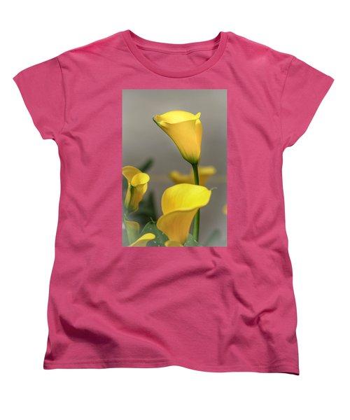 Yellow Calla Lilies Women's T-Shirt (Standard Cut) by Menachem Ganon