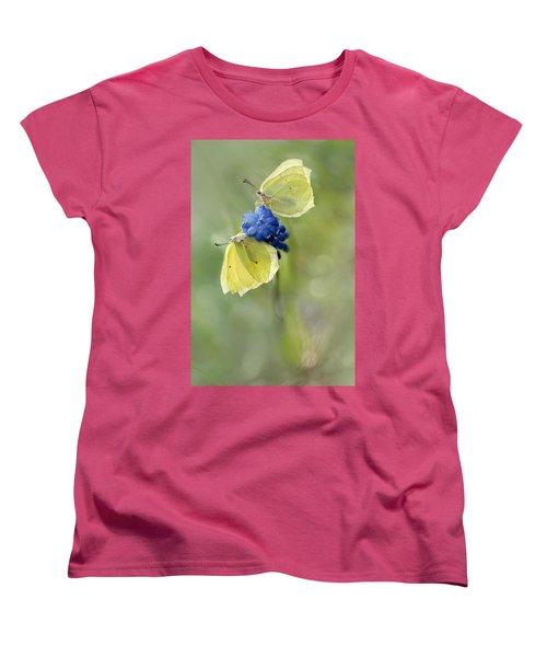 Yellow Duet Women's T-Shirt (Standard Cut) by Jaroslaw Blaminsky