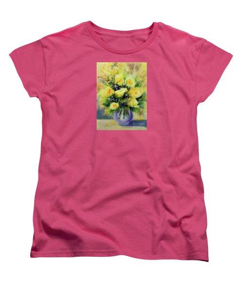 Yellow Roses Women's T-Shirt (Standard Cut) by Kathy Braud