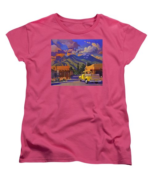 Women's T-Shirt (Standard Cut) featuring the painting Yellow Truck by Art James West
