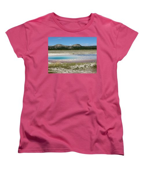 Women's T-Shirt (Standard Cut) featuring the photograph Yellowstone Landscape by Laurel Powell