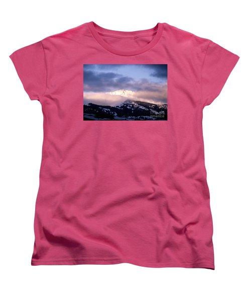 Women's T-Shirt (Standard Cut) featuring the photograph Yellowstone Morning by Sharon Elliott