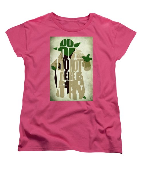 Yoda - Star Wars Women's T-Shirt (Standard Cut) by Ayse Deniz