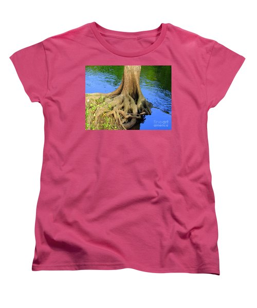 Women's T-Shirt (Standard Cut) featuring the photograph You Can Bank On It by Lew Davis