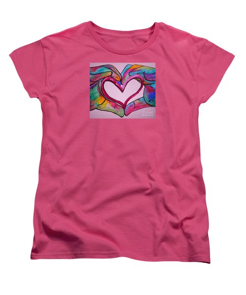 You Hold My Heart In Your Hands Women's T-Shirt (Standard Cut) by Eloise Schneider