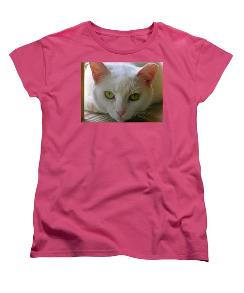 Women's T-Shirt (Standard Cut) featuring the photograph You Lookin At Me by Sherman Perry