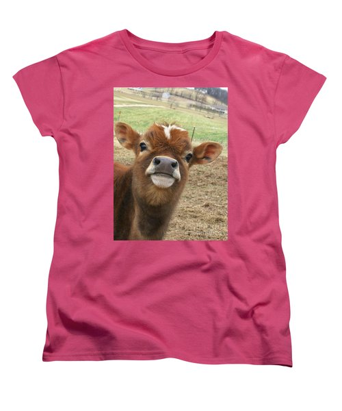 Women's T-Shirt (Standard Cut) featuring the photograph You Looking At Me by Sara  Raber