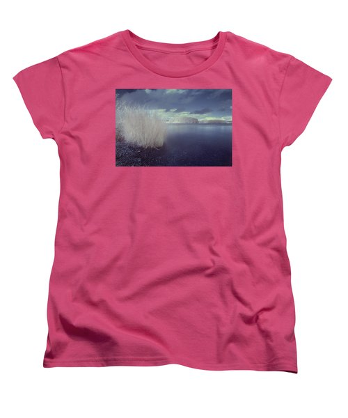 Women's T-Shirt (Standard Cut) featuring the photograph  Infrared At Llyn Brenig by Beverly Cash