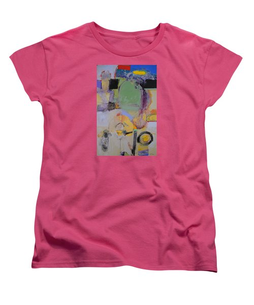 Women's T-Shirt (Standard Cut) featuring the painting 10th Street Bass Hole by Cliff Spohn