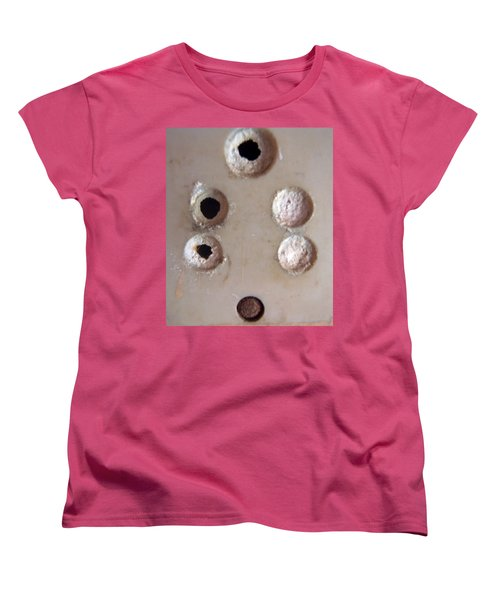 Women's T-Shirt (Standard Cut) featuring the photograph A Clogged Up 5 Point Electric Plug Point by Ashish Agarwal