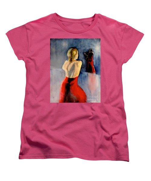 Women's T-Shirt (Standard Cut) featuring the painting A Flamenco Dancer  3 by Yoshiko Mishina