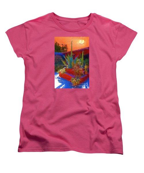 A Garden In Pozos Women's T-Shirt (Standard Cut) by John  Kolenberg