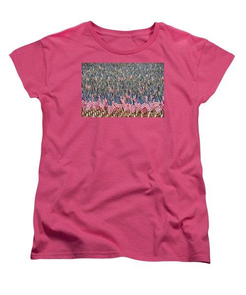 A Thousand Flags Women's T-Shirt (Standard Cut) by John Black
