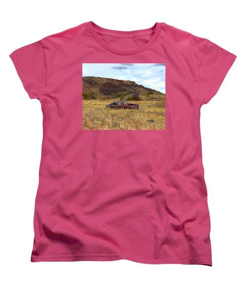 Abandoned Car Women's T-Shirt (Standard Cut) by Steve McKinzie