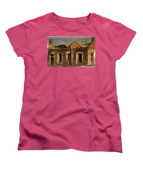 Women's T-Shirt (Standard Cut) featuring the digital art Abandoned Farmhouse by Blair Stuart