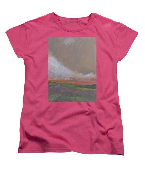Abstract Landscape - Scarlet Light Women's T-Shirt (Standard Cut) by Kathleen Grace
