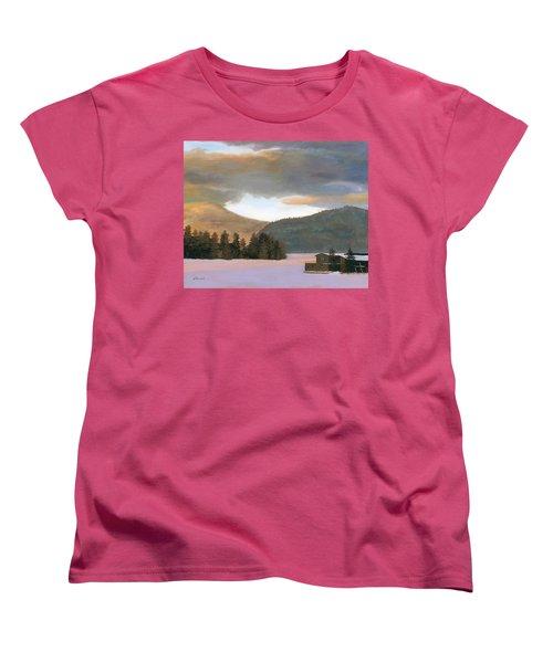 Adirondack Morning Women's T-Shirt (Standard Cut) by Lynne Reichhart