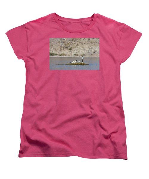 Agua Verde Fisherman  Women's T-Shirt (Standard Cut) by Anne Mott