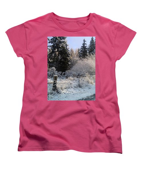 Women's T-Shirt (Standard Cut) featuring the photograph Along The Way by Rory Sagner